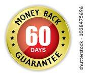 red 60 days money back badge... | Shutterstock . vector #1038475696