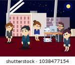 tired business people when... | Shutterstock .eps vector #1038477154