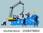 businessmen race for business... | Shutterstock .eps vector #1038478804