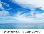 blue sky and white clouds while ... | Shutterstock . vector #1038478990