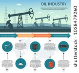 vector oil rig industry of... | Shutterstock .eps vector #1038479260