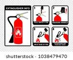 extinguisher info  label vector | Shutterstock .eps vector #1038479470