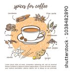 recipe card design spices for... | Shutterstock .eps vector #1038482890
