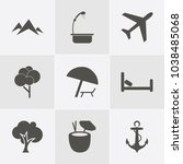 icon set about travelling with... | Shutterstock .eps vector #1038485068