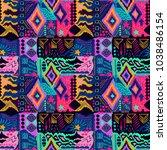 tribal pattern. ethnic print....   Shutterstock . vector #1038486154