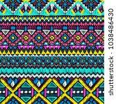 fabric pattern. tribal ornament.... | Shutterstock . vector #1038486430