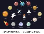 the solar system vector   Shutterstock . vector #1038495403
