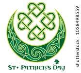 four leaf clover. irish symbol... | Shutterstock .eps vector #1038498559