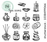 Vector Set With Spa Icons On...
