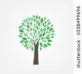 modern abstract tree icons...   Shutterstock .eps vector #1038499696