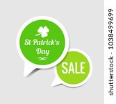 st. patrick's day sale stickers   Shutterstock .eps vector #1038499699