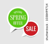 special spring offer and sale... | Shutterstock .eps vector #1038499714