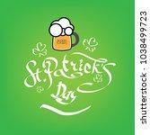 st. patrick's day poster. beer...   Shutterstock .eps vector #1038499723
