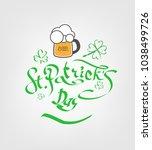 st. patrick's day poster. beer...   Shutterstock .eps vector #1038499726