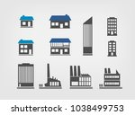 buildings factorys and modern...   Shutterstock .eps vector #1038499753