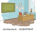 classroom graphic color... | Shutterstock .eps vector #1038499849
