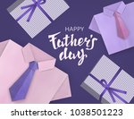 fathers day. celebratory... | Shutterstock .eps vector #1038501223