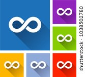 illustration of infinity icons...   Shutterstock .eps vector #1038502780