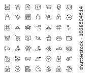 online shopping flat icon set.... | Shutterstock .eps vector #1038504514
