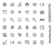 online market flat icon set....   Shutterstock .eps vector #1038504790
