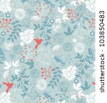 floral seamless pattern  vector ... | Shutterstock .eps vector #103850483