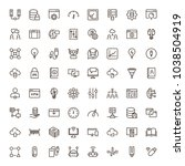 machine learning icon set.... | Shutterstock .eps vector #1038504919