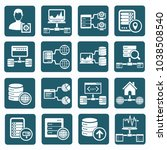 database and network icon set... | Shutterstock .eps vector #1038508540