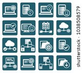database and network icon set... | Shutterstock .eps vector #1038508579