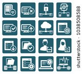 database and network icon set... | Shutterstock .eps vector #1038508588