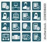 database and network icon set... | Shutterstock .eps vector #1038508600