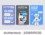 chatting bot marketing... | Shutterstock .eps vector #1038509230