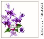 tropical bouquet of exquisite... | Shutterstock .eps vector #1038509524
