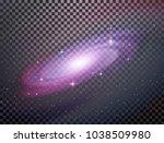 realistic milky way spiral... | Shutterstock .eps vector #1038509980