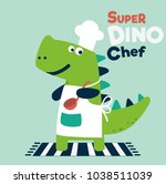 cute and smiling dinosaur in... | Shutterstock .eps vector #1038511039