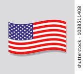 usa flag icon. american symbol. | Shutterstock .eps vector #1038511408