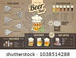 vintage beer menu design on... | Shutterstock .eps vector #1038514288