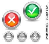 check mark buttons. aqua bright ... | Shutterstock .eps vector #103851524