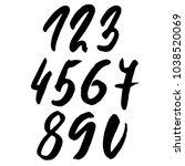 set of calligraphic ink numbers.... | Shutterstock .eps vector #1038520069