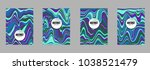 covers templates set with...   Shutterstock .eps vector #1038521479