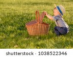 portrait of toddler child... | Shutterstock . vector #1038522346
