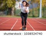 business woman in start... | Shutterstock . vector #1038524740