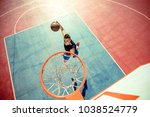 high angle view of basketball...   Shutterstock . vector #1038524779