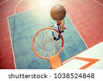 high angle view of basketball... | Shutterstock . vector #1038524848