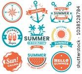 summer retro vector logo for... | Shutterstock .eps vector #1038528784