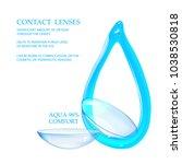 best blue contact lenses for... | Shutterstock .eps vector #1038530818