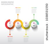 modern creative infographic | Shutterstock .eps vector #1038531550