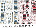 vintage retro vector logo for... | Shutterstock .eps vector #1038532210