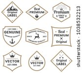 vintage retro vector logo for... | Shutterstock .eps vector #1038532213