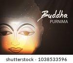 abstract buddha purnima   guru... | Shutterstock .eps vector #1038533596