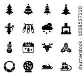 solid vector icon set  ... | Shutterstock .eps vector #1038537220